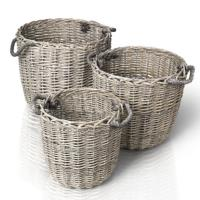 BLOMUS Canasto Set of 3 Wicker Baskets