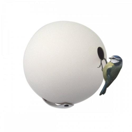 Green and Blue White wall attached Birdball
