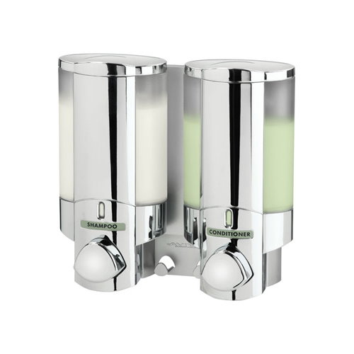AVIVA Chrome Double Non-Locking Soap Shampoo Dispenser