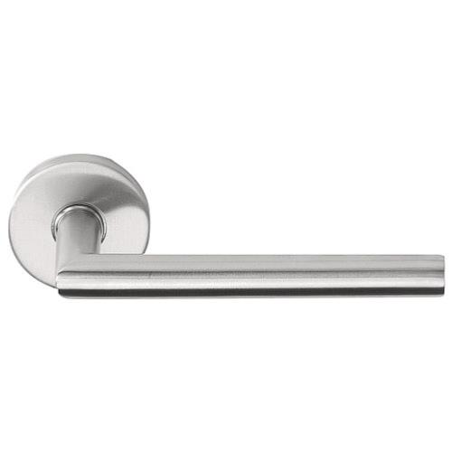 LBII-16 brushed stainless steel lever handles set