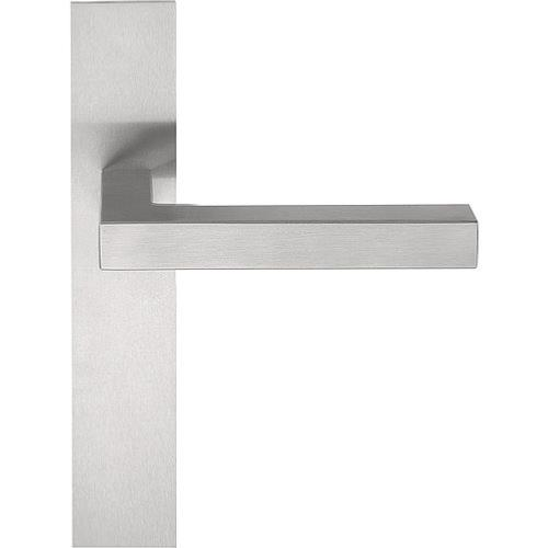 LSQIP236 stainless steel lever handle on plate