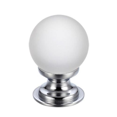 Fulton and Bray Frosted Glass Ball Cabinet Knob