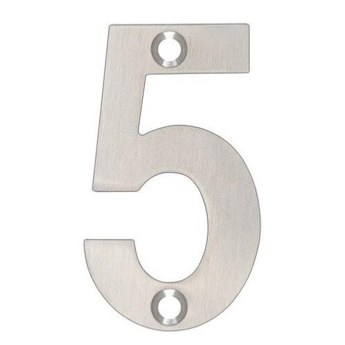 ARKITUR Brushed Stainless Steel 50mm High Door/House Number - 5