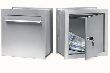 Isis brushed stainless steel mail post box