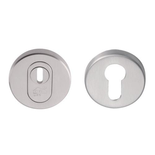 Fold BVEIL-KT brushed stainless steel security escutcheons