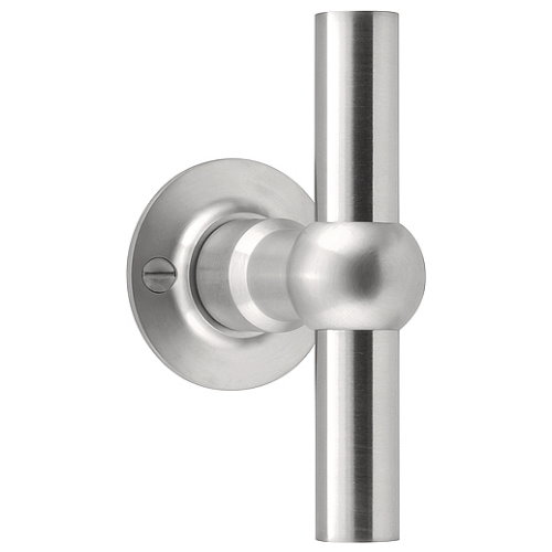 FVT125V/52 stainless steel fixed knob on rose