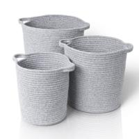 BLOMUS Boa Set of 3 Woven Cotton Baskets