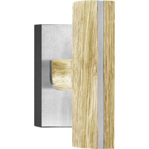 PBT22-DK stainless steel and oak wood non-locking tilt and turn window handle