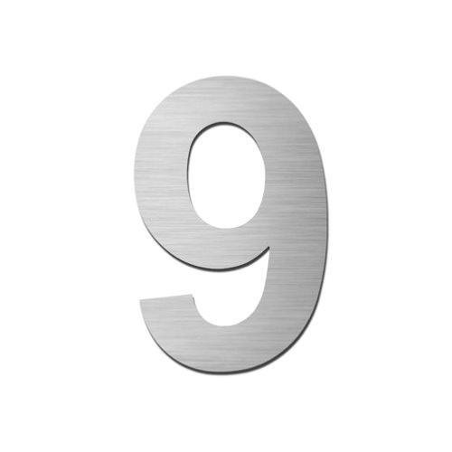Brushed stainless steel 150mm door/house number - 9