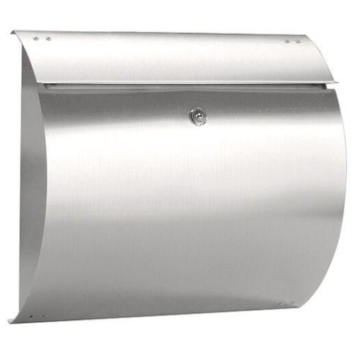 Columba brushed stainless steel mail post box