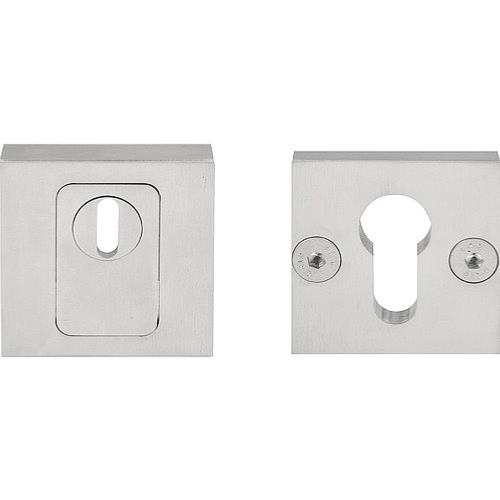 LSQVEIL-CKT solid stainless steel security escutcheon with cylinder protection cover