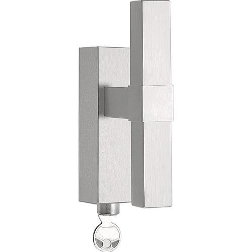 VT125-DKLOCK brushed stainless steel locking tilt and turn window handle