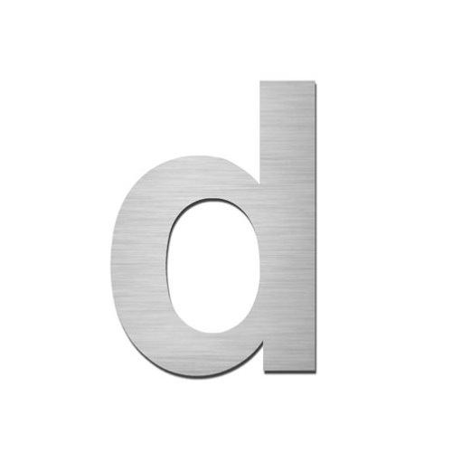 ARKITUR brushed stainless steel 75mm high secret fix lowercase letter - d