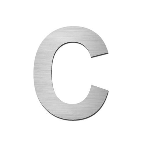 Brushed stainless steel capital letter - C