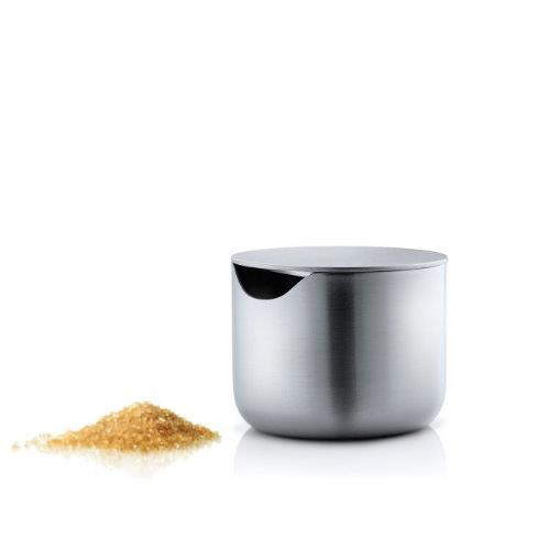 BLOMUS Basic Brushed Stainless Steel Sugar Bowl with Lid