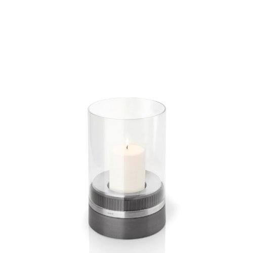 Blomus Piedra Hurricane Lamp with Candle