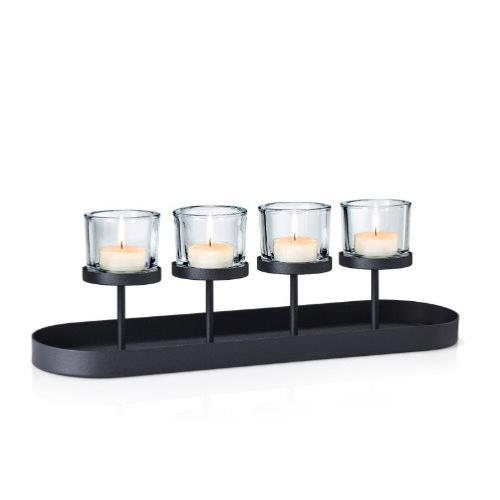 BLOMUS Nero Tealight/Candle Holder Oval Tray