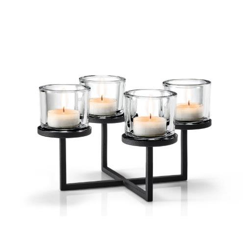 BLOMUS Nero Cross-Shape Tealight/Candle Holder