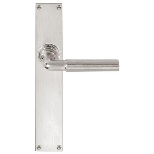 Timeless 1924GPSFC matt nickel lever handle on blank rectangular plate