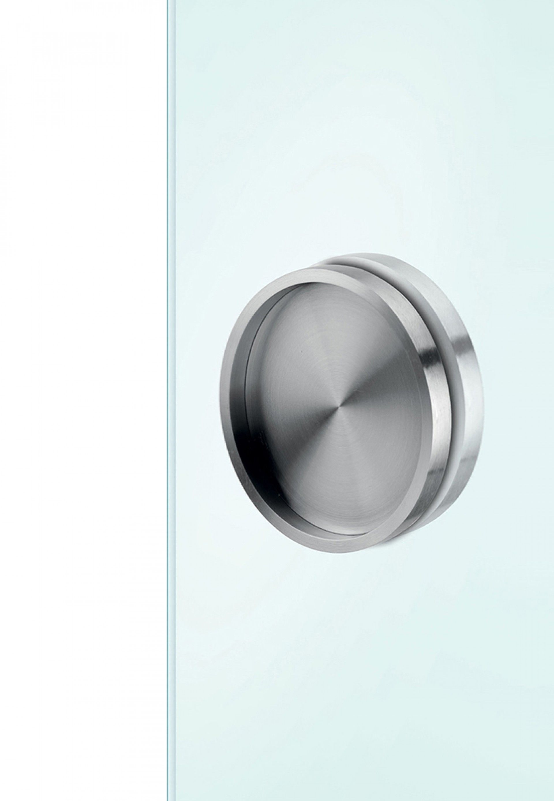 ARKITUR 100mm Diameter Self-Adhesive Sliding Door Handle