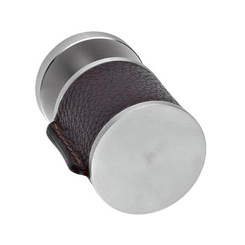 Skin stainless steel and natural leather fixed/turning door knobs