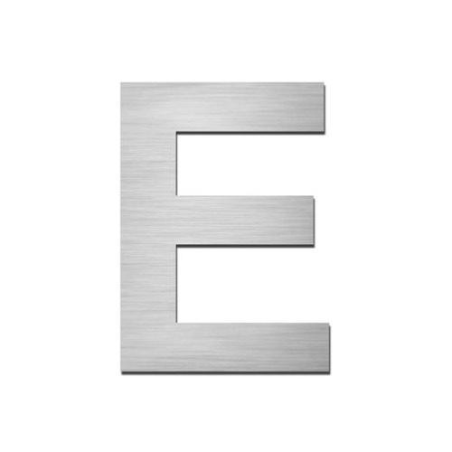 Brushed stainless steel capital letter - E
