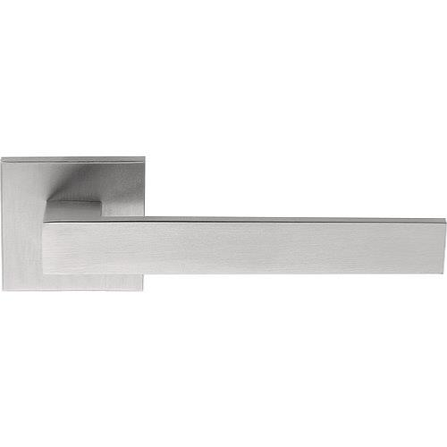 LSQIICB brushed stainless steel square lever handle