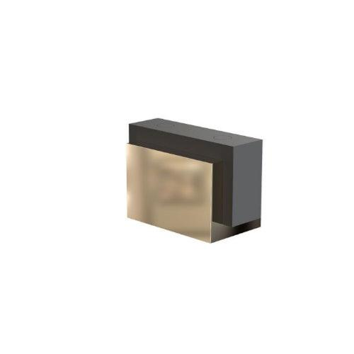 FROST Kube 5001 Gold Floor/Wall Door Stop