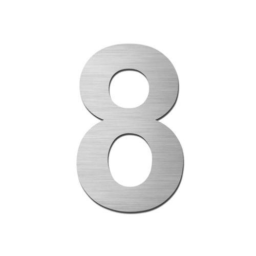 Brushed stainless steel 150mm door/house number - 8