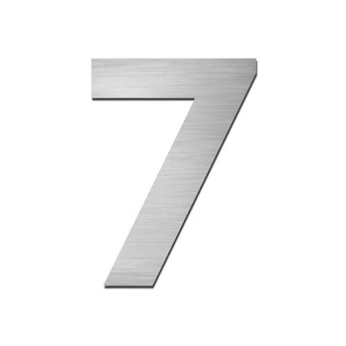 Brushed stainless steel 150mm door/house number - 7