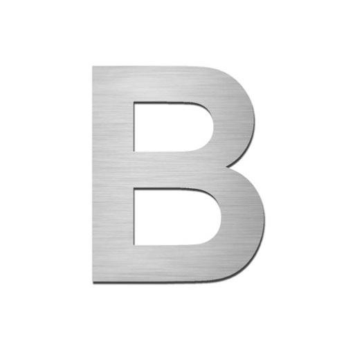 Brushed stainless steel capital letter - B