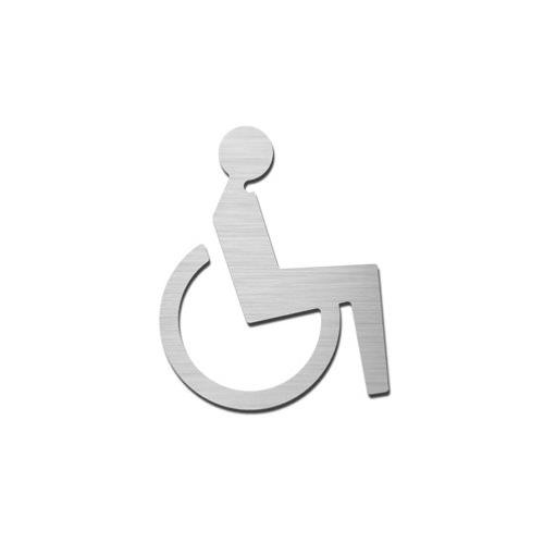 Brushed stainless steel ambulant pictogram