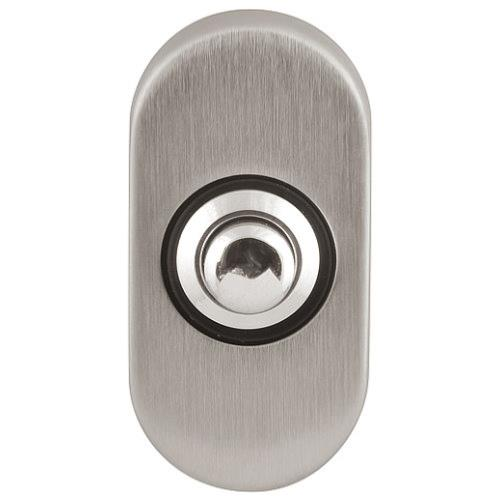 Timeless F510 oval bell push with chrome plated button