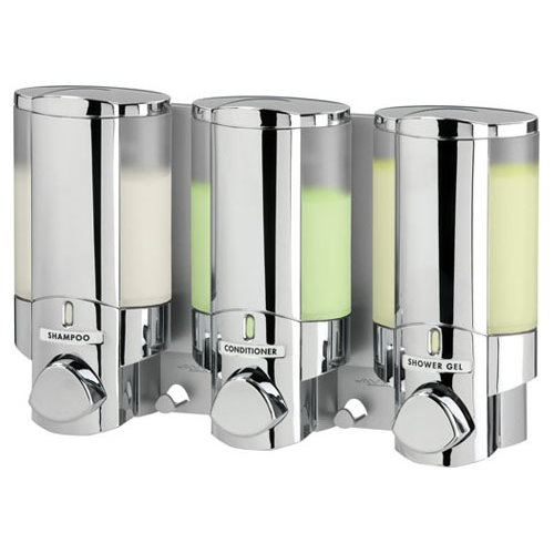 AVIVA Chrome Triple Non-Locking Soap Shampoo Dispenser