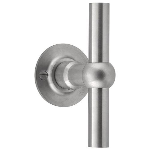FVT110/52 stainless steel lever handle on rose