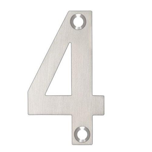 ARKITUR Brushed Stainless Steel 50mm High Door/House Number - 4