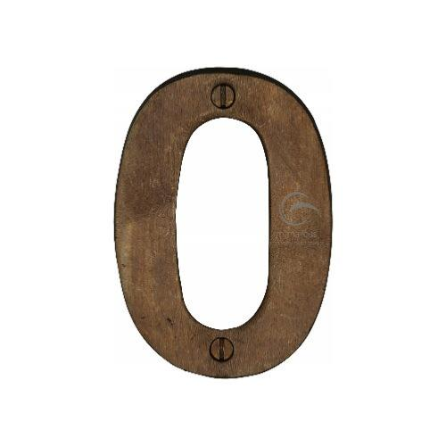 M.Marcus Solid Bronze Rustic Door Number 0