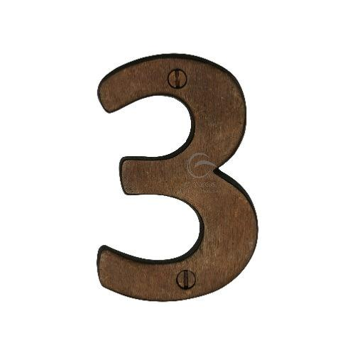 M.Marcus Solid Bronze Rustic Door Number 3