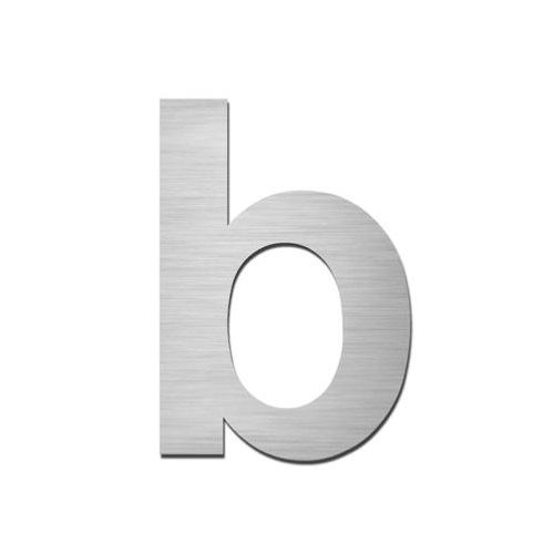 ARKITUR brushed stainless steel 75mm high secret fix lowercase letter - b