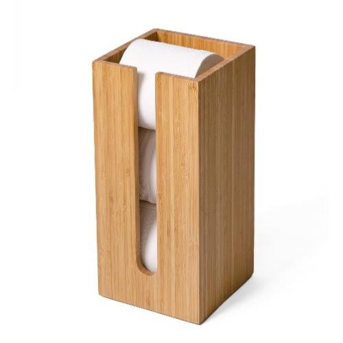 EKO LINE Natural Wood Toilet Roll Holder