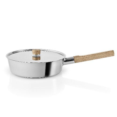 EVA TRIO Nordic Kitchen Stainless Steel Saute Pan with Lid