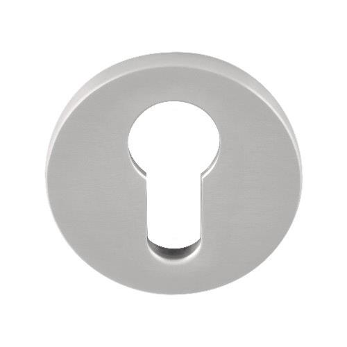 Fold TBY50 brushed stainless steel PZ cylinder escutcheon