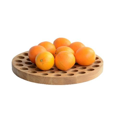 Geo Oak Fruit Bowl