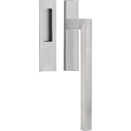 PB231 brushed stainless steel lift-up sliding door handle set