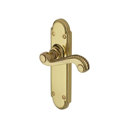 M.Marcus Heritage Brass Adam Lever Handle on Plate