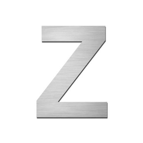 Brushed stainless steel Capital letter - Z