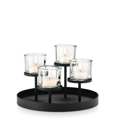 blomus nero tealight candle holder tray. Black Bedroom Furniture Sets. Home Design Ideas