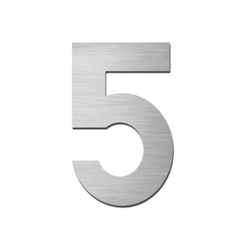 Brushed stainless steel 150mm door/house number - 5