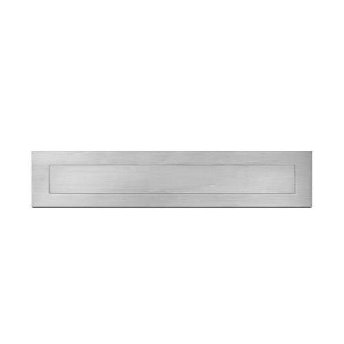 SG Brushed stainless steel letter box plate or internal flap