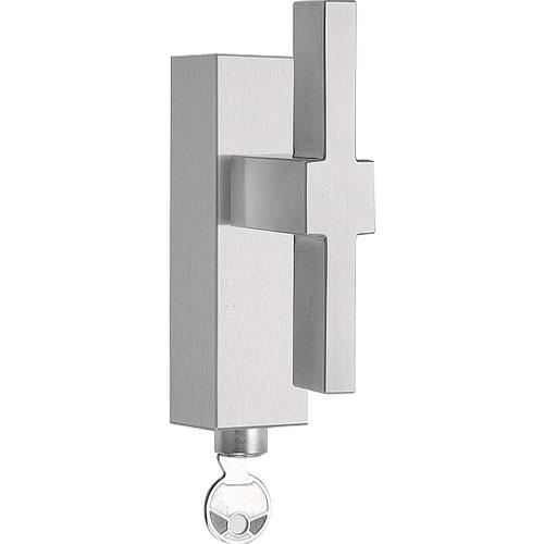 LSQVI-DKLOCK brushed stainless steel locking tilt and turn window handle